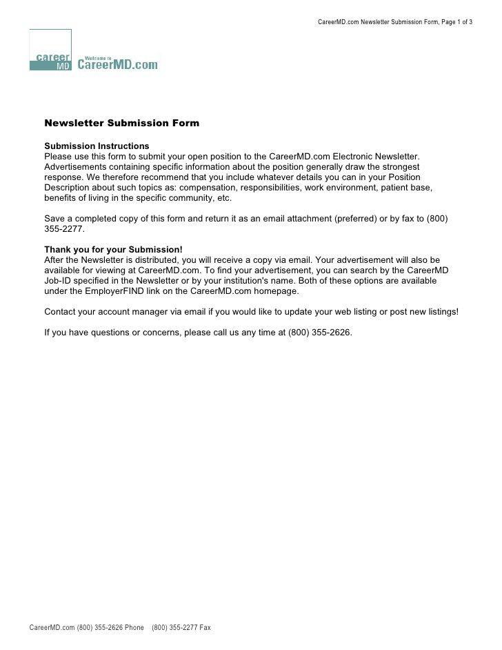Newsletter Editor Cover Letter | Node2002 Cvresume.paasprovider.com
