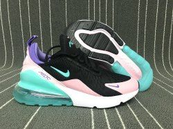 Zero Defect Nike Air Max 270 Pink Black Blue Purple Trainer Women's Casual Shoe