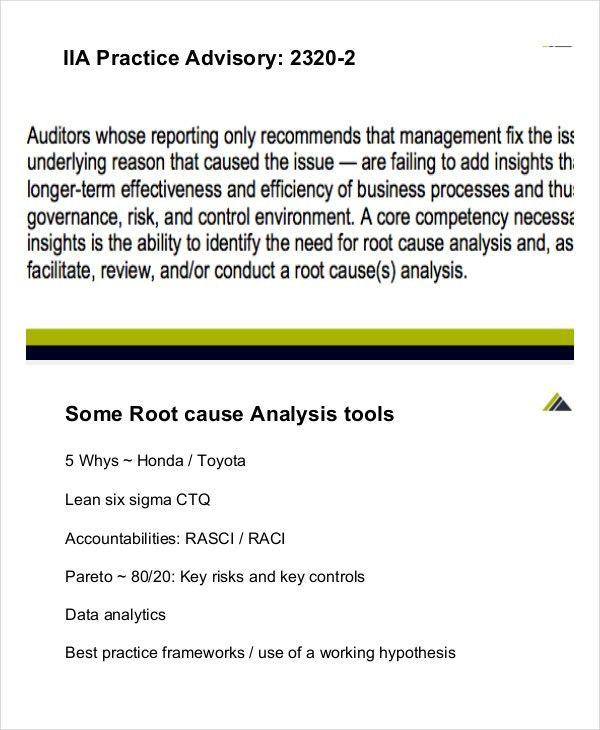 Root Cause Analysis Format Root Cause Analysis Template - data analysis template