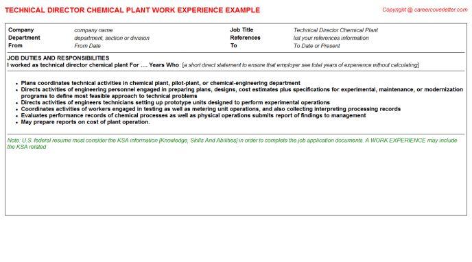 Technical Director Resume Technical Director Resume Samples - technical director job description