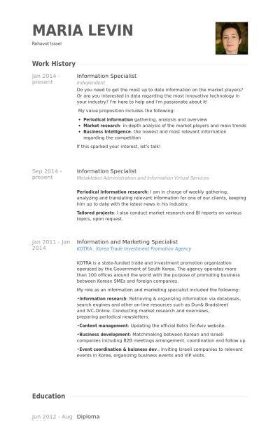 Visual Information Specialist Resume - sarahepps -