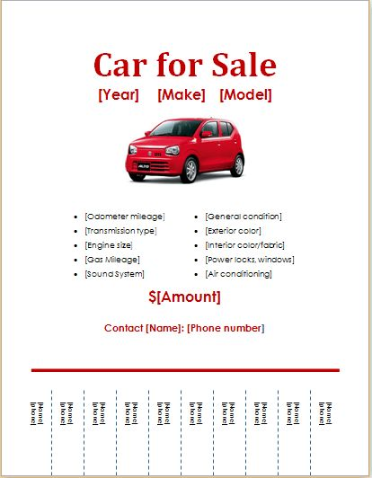 Car Sale Sign Template Car For Sale Sign Office Templates, Free - car for sale flyer template