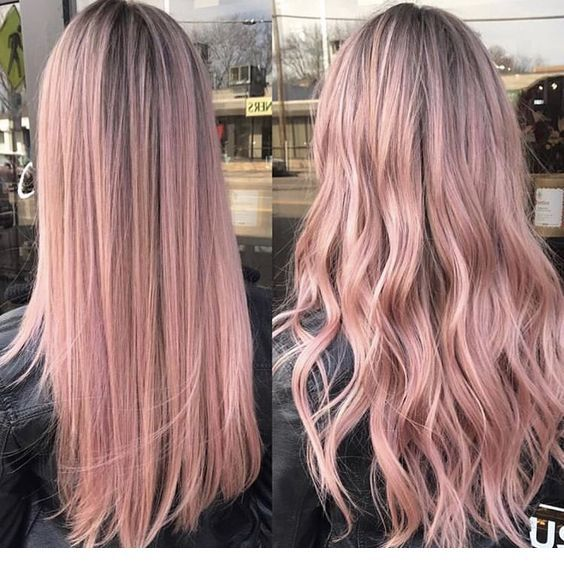 I like this pink hair tone