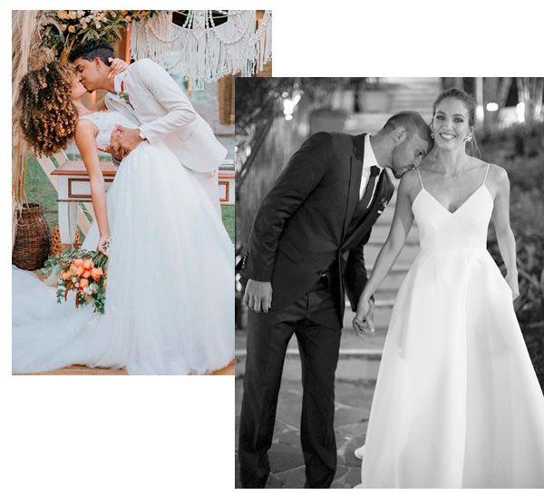 Lore Souza, Renata Laurent Dias - vestido-de-noiva - noiva - verão - street-style