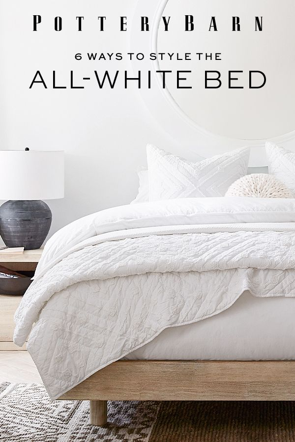 6 Ways to Style The All-White Bed