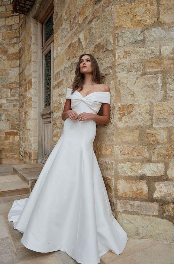 Lux Off Shoulder Wedding Gown