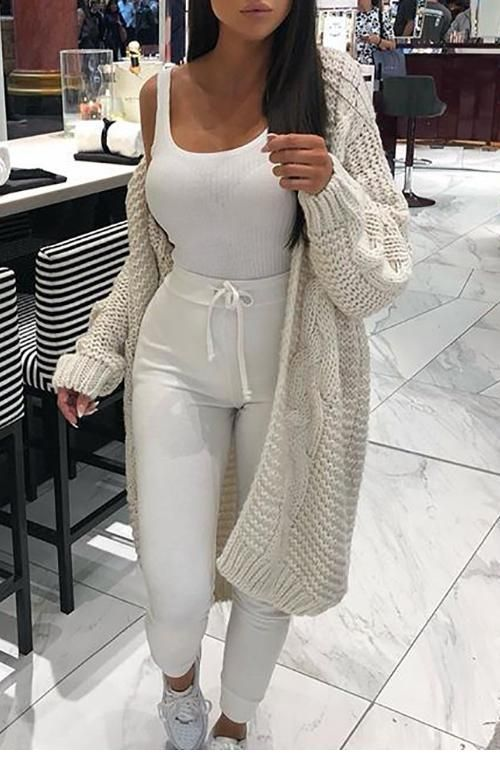 All white sport style