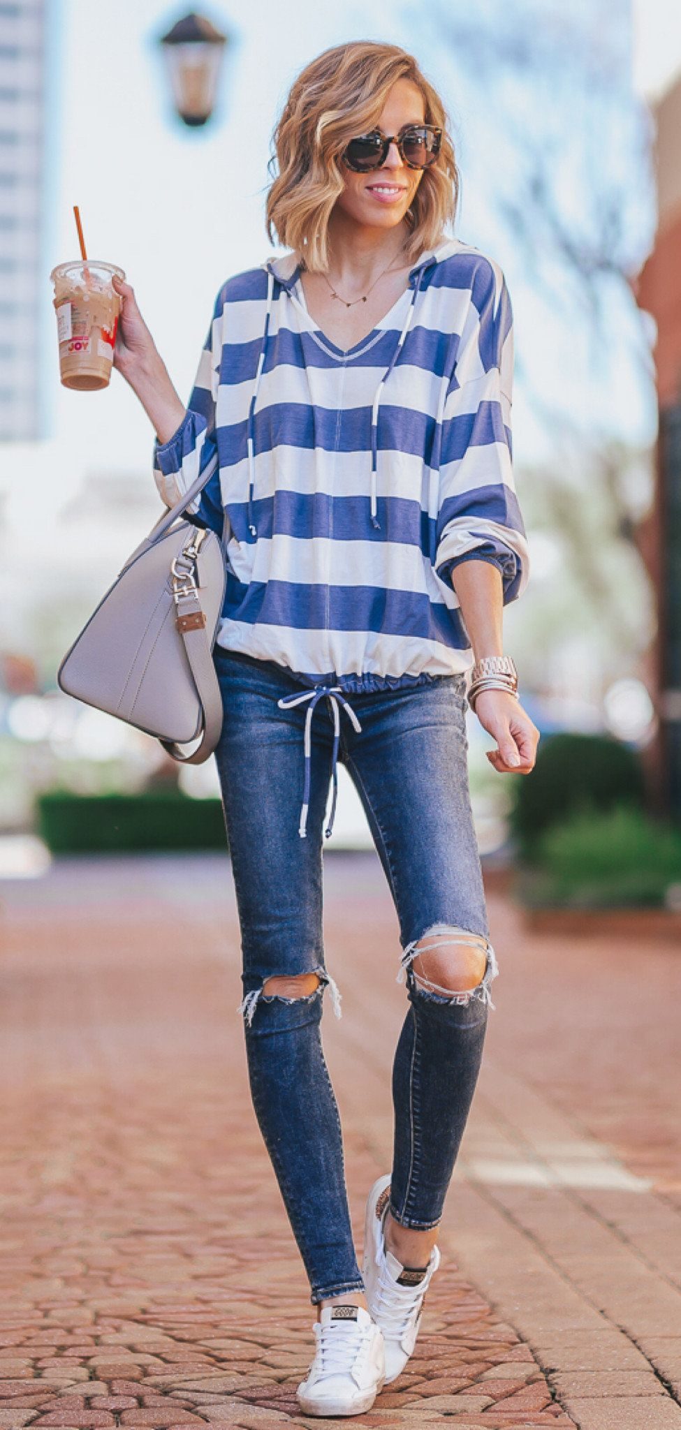 blue and white dress #winter #outfits