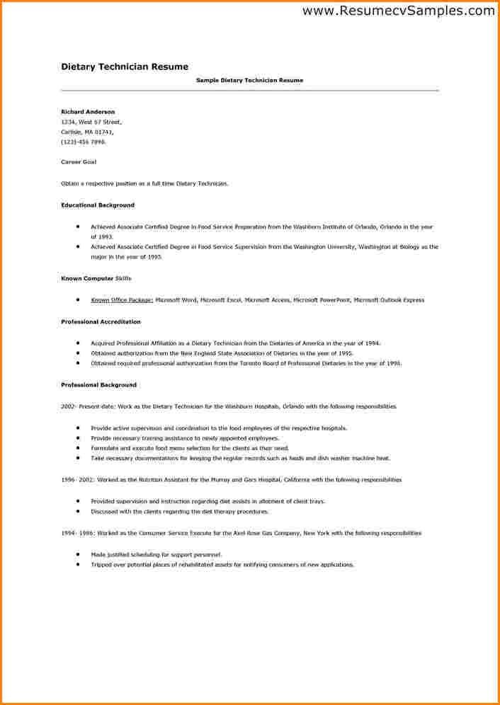 dietary aide resume samples professional dietary aide templates - Dietary Assistant Sample Resume