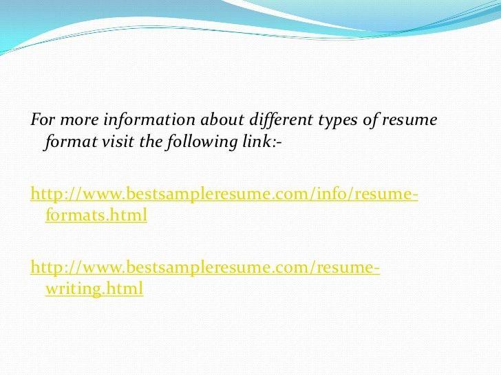 different resume types different types of resumes resume badak