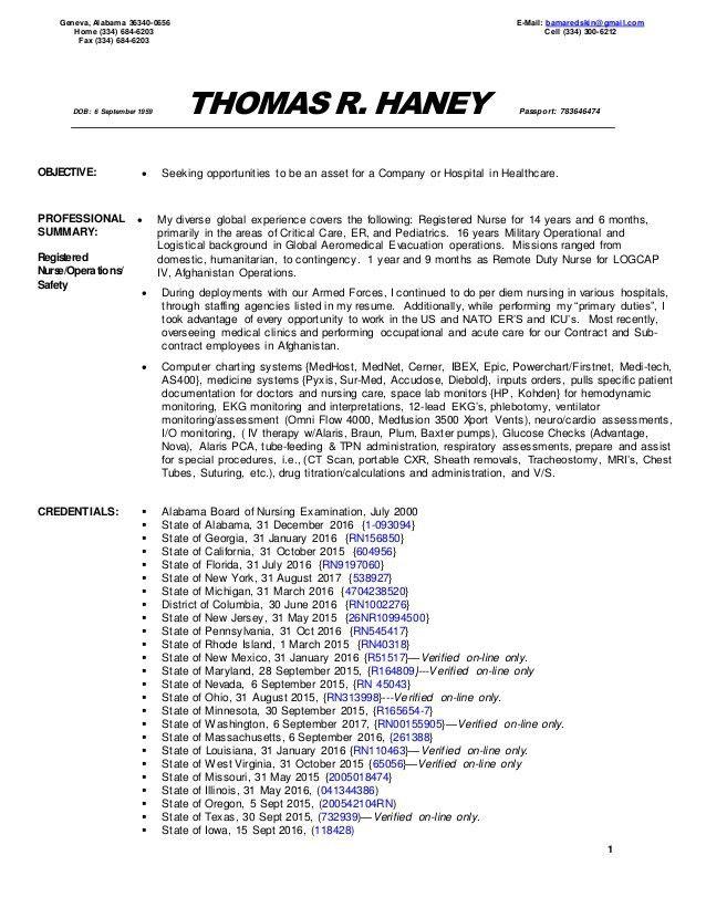 charge rn resume sample
