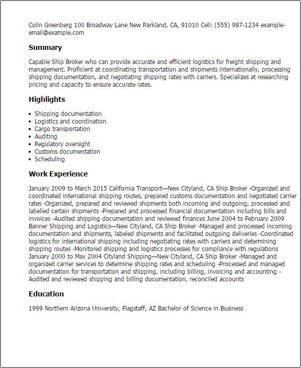 customs broker cover letter | resume-template.paasprovider.com