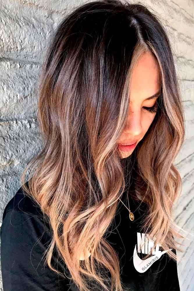 Long Layered Chestnut Ombre Hair #chestnuthair #ombrehair ★ Explore trendy long haircuts with layers for women. We have ideas for wavy, straight, thin and for thick hair. #glaminati #lifestyle #longhaircuts