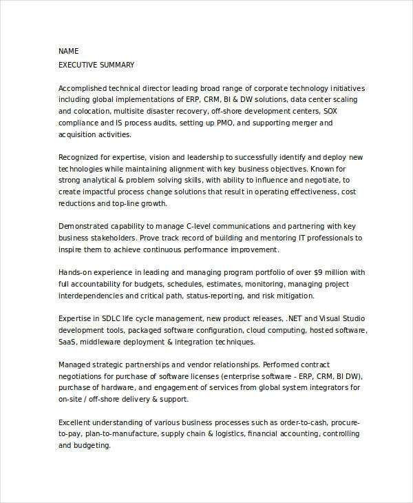 Technical Director Resume Technical Director Resume Samples - director of it resume