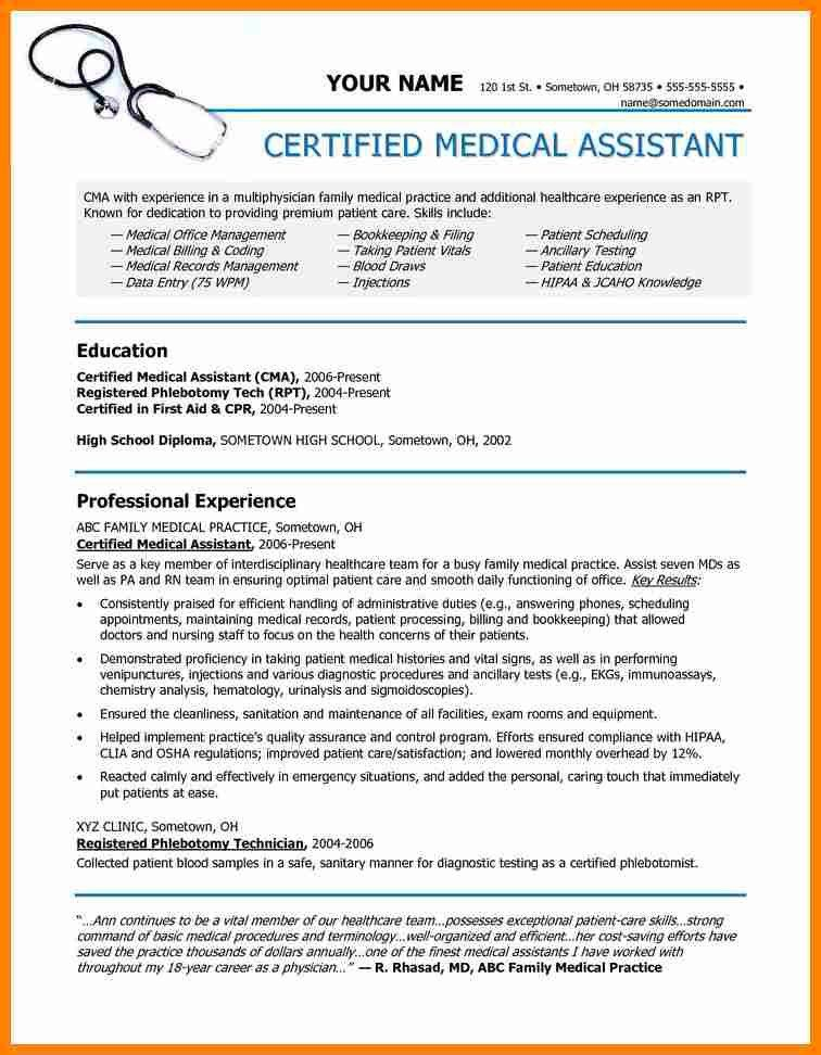 Certified Medical Assistant Qualifications What Does A Medical - medical assistant qualifications resume
