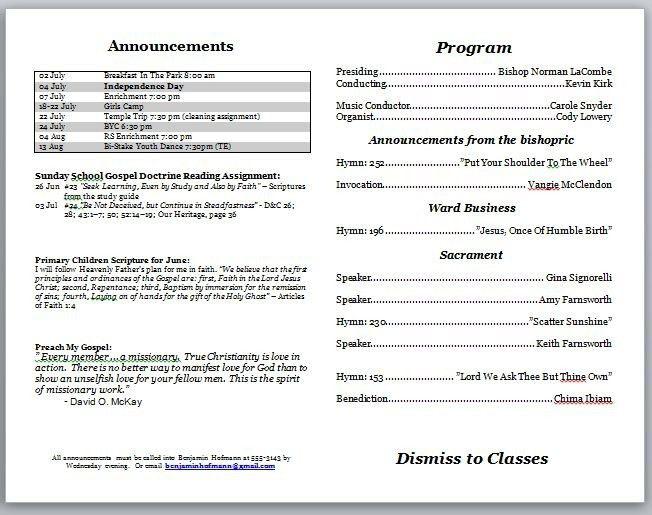 Church Program Template Free Church Program Template Cyberuse - church program