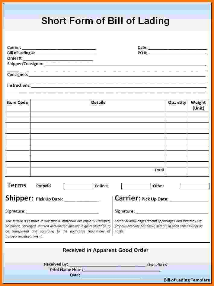 Doc#9001165 Bol Template u2013 40 Free Bill of Lading Forms - generic bol form