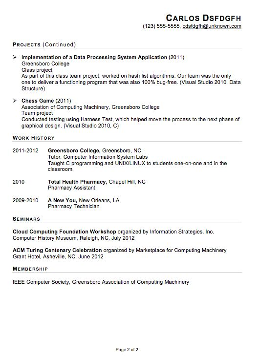 Internship Objective For Resume Computer Science