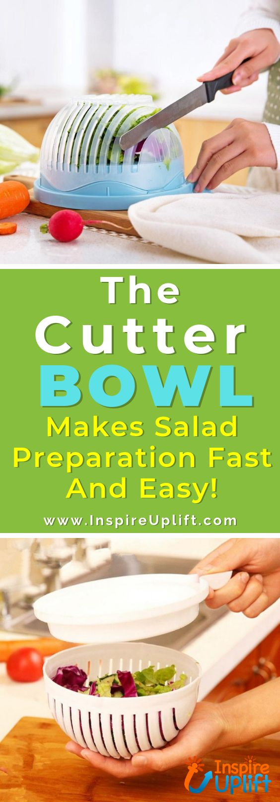 No one can deny that good home appliances, cooking utensils and kitchen products in general, make life more comfortable and convenient! This ingenious, kitchen device is so cool! Everyone LOVES a good chopped salad, but the time and effort it takes to cut all of those fresh veggies and fruits make it less appealing at times. Now, The Cutter Bowl makes salad preparation fast and easy!