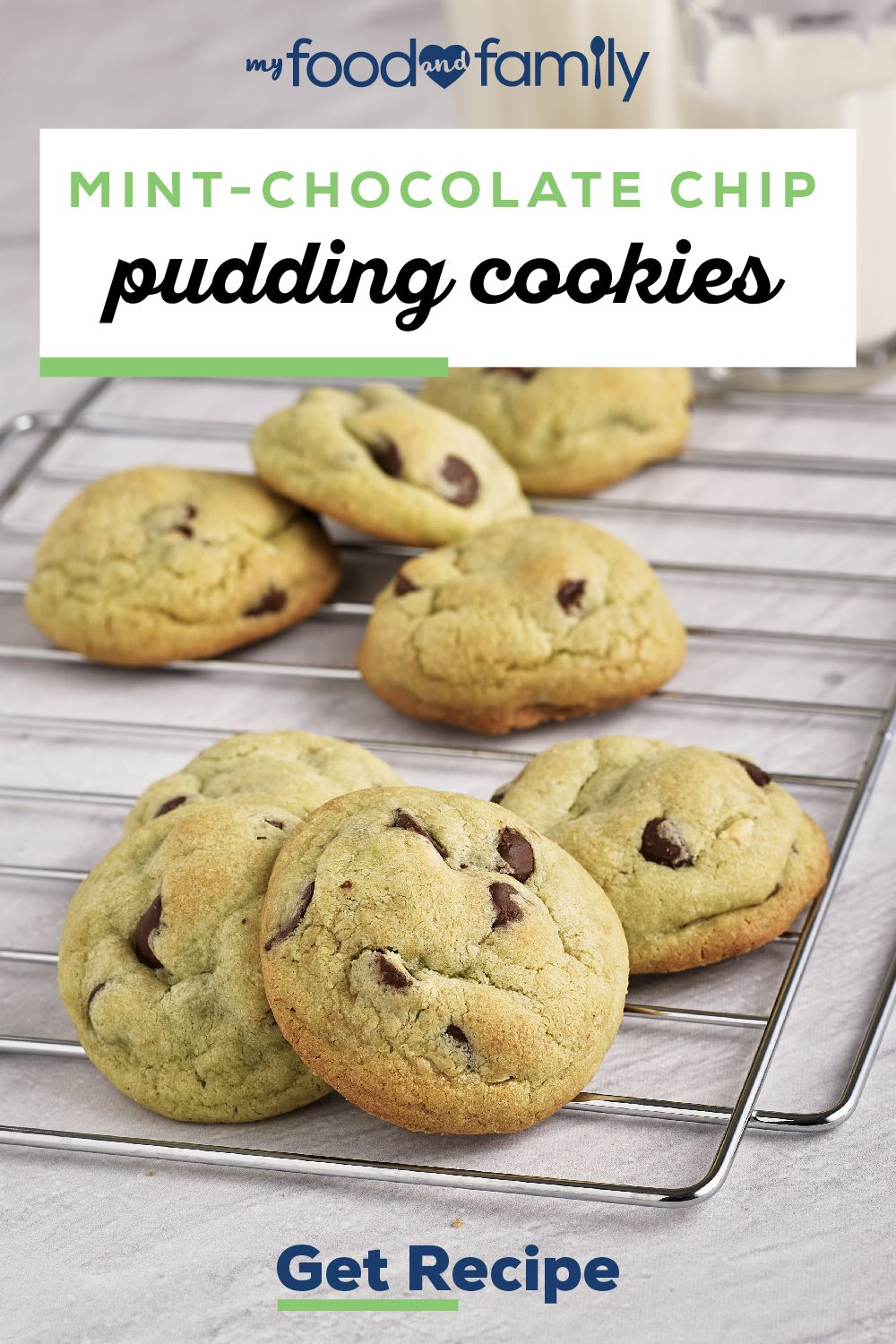 Mint-Chocolate Chip Pudding Cookies