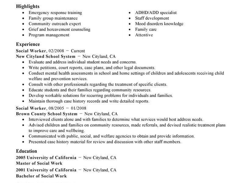outreach worker resumes