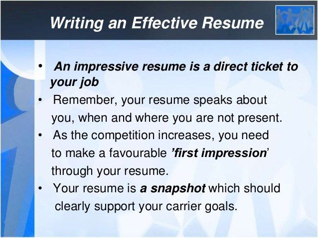 ... How To Write Effective Resume Effective Resume Writing, How To   How To Write  Effective ...