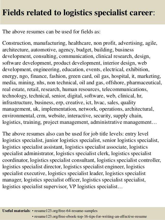 Logistics Resume Objective Senior Logistic Management Resume - contract specialist resume