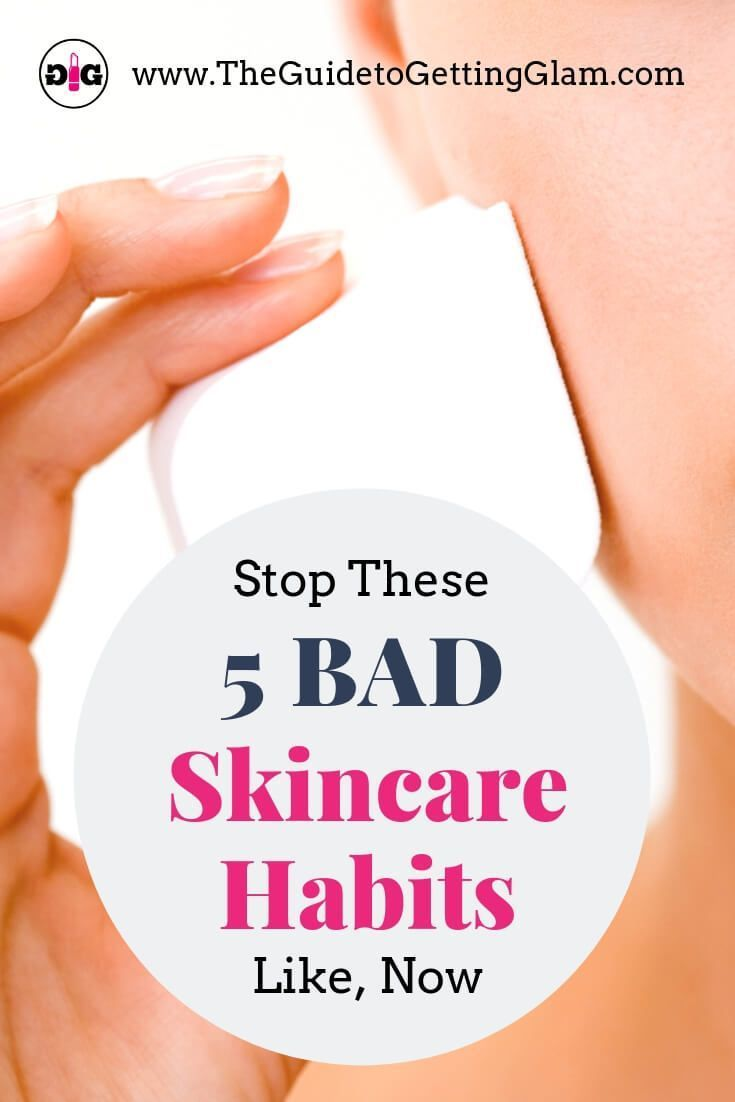 Bad Skincare Habits to Quit Now. Stop these bad beauty and skincare habits now to prevent acne and premature aging. Plus, learn these tips on which good beauty habits to start, and put into your skincare routine every day. #skincare #skincaretips #makeup