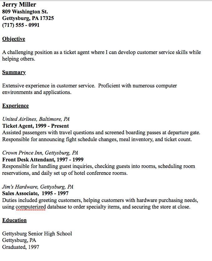 Hotel Reservations Agent Sample Resume Professional Hotel - hotel reservations agent sample resume