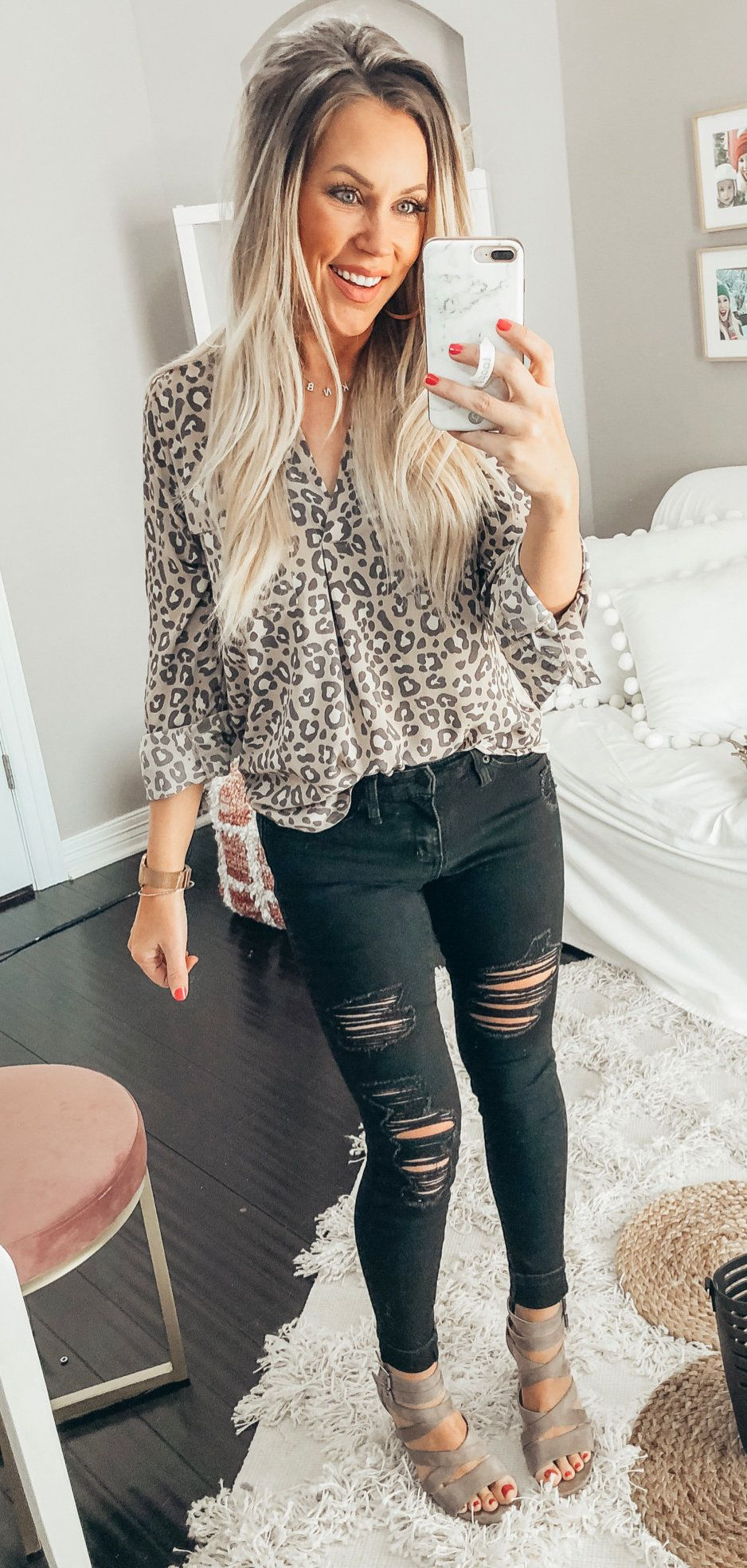 distressed black jeans #spring #outfits