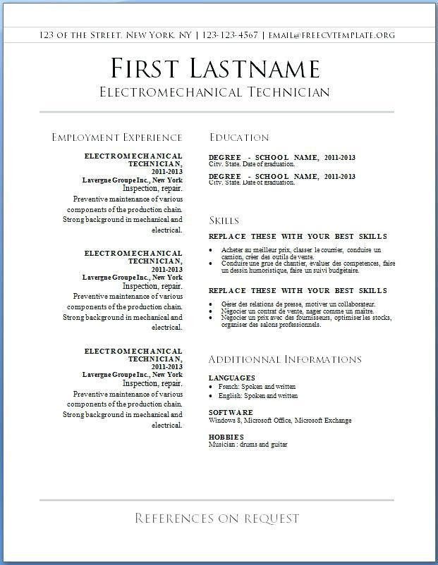 resume format in word 2003 resume templates word 2003 free resume
