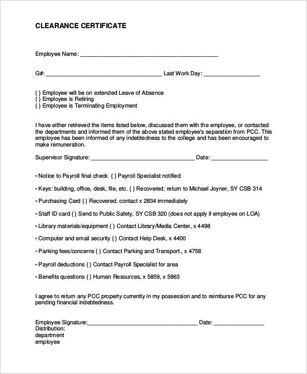 Employment Separation Certificate Form certificate character - certification of employment sample