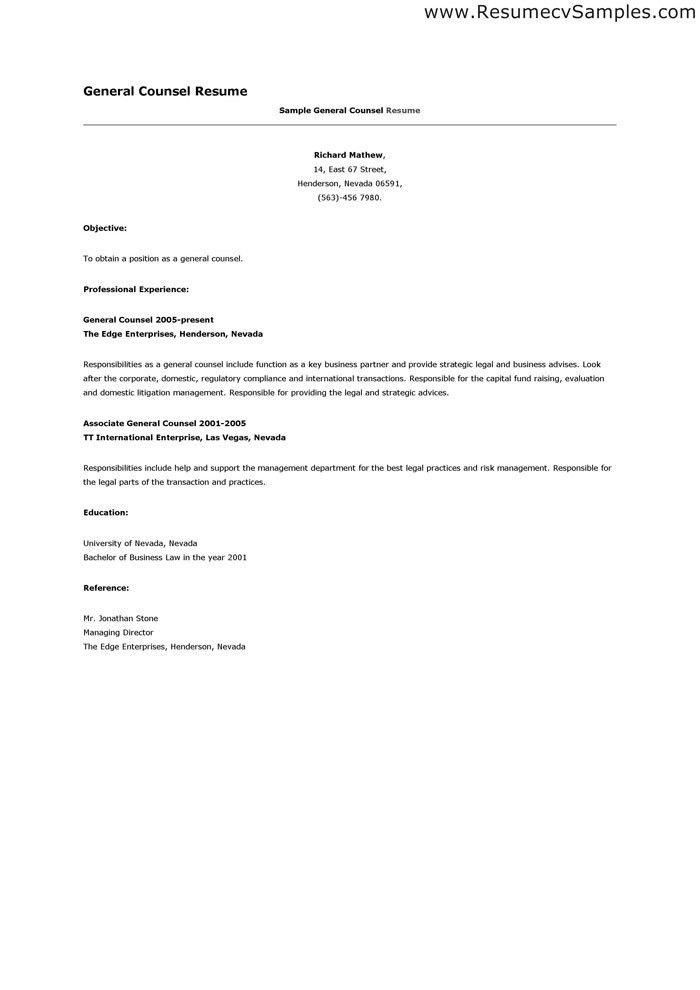 Cover Letter Senior Legal Counsel