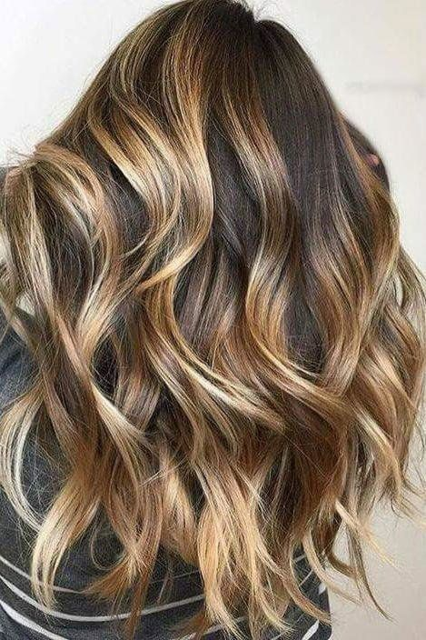 Gorgeous Brown Hairstyles with Blonde Highlights: Tortoiseshell Brown Hair with Honey Blonde Highlights
