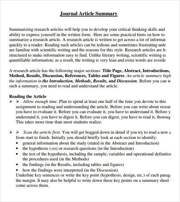 Sample Article Summary Template the details and summary elements - one page executive summary template