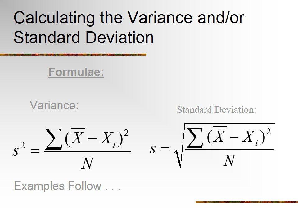 Standard Deviation Formula Example Standard Deviation S - sample variance