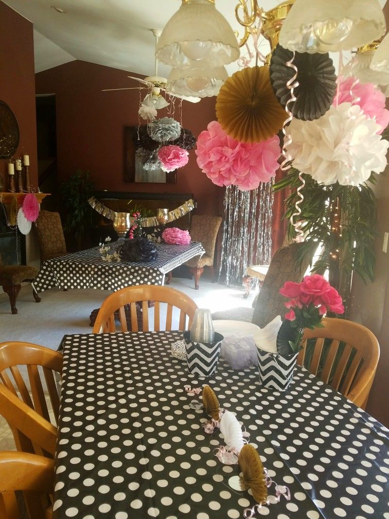 Paris Color And Theme For My 14 Year Old Birthday Girl Table Decorations Girl Birthday Theme