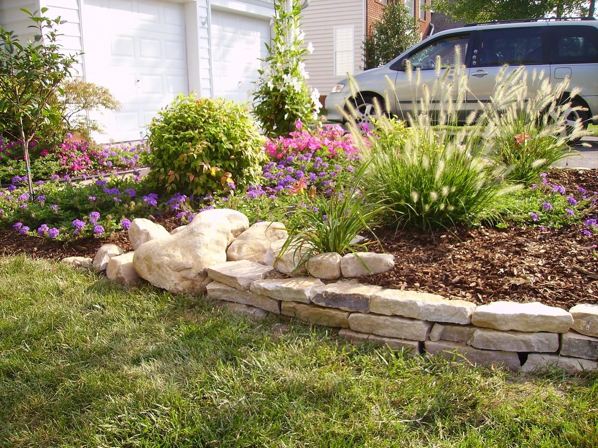 Pinterest the world s catalog of ideas for Flower bed edging stone
