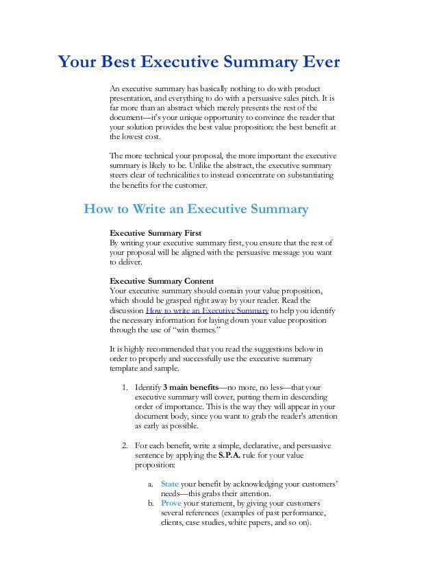 executive summary template microsoft word | node2003-cvresume ...
