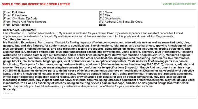 ... Building Inspector Cover Letter Building Inspector Cover Letter    Boiler Inspector Cover Letter ...