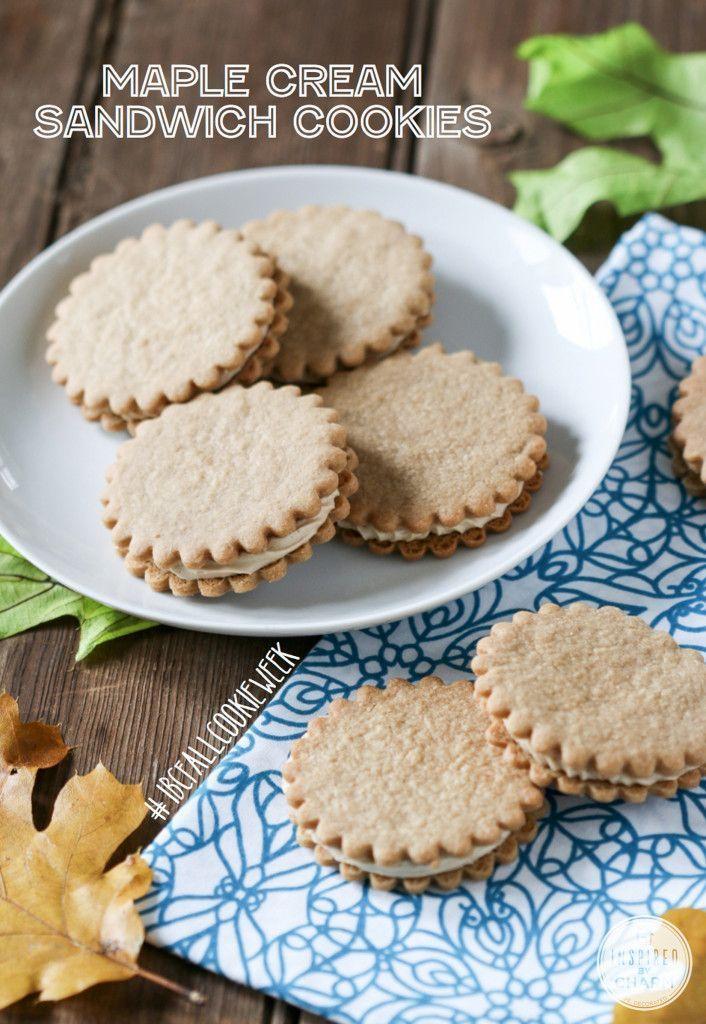 Maple Cream Cookies - crisp cookies and maple buttercream