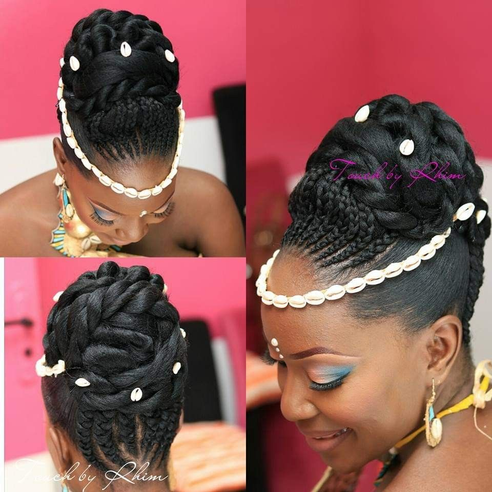 Coiffure Mariage Coutumier Gabon Gabonese Wedding Hairstyle Traditionnal African Weddin Natural Hair Wedding Black Hair Updo Hairstyles Natural Afro Hairstyles