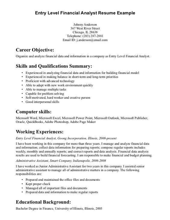 financial analyst cover letter hitecauto - sample financial analyst resume