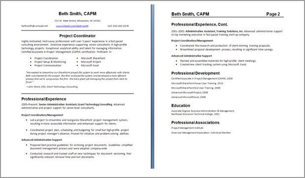 One Page Resumes Examples 41 One Page Resume Templates Free - example of one page resume