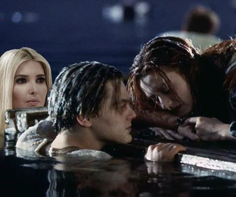 Poor Ivanka Trump is the butt of the joke with this Twitter meme! #UnwantedIvanka #IvankaTrump #Memes #Movie #Titanic #Twitter #Roast #Photoshop