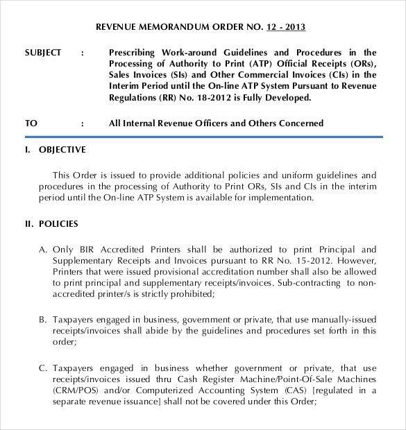 Doc#585520 Policy Memo Template u2013 11 Policy Memo Templates Free - sample credit memo