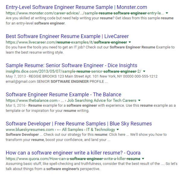 Sample Resume For A Software Engineer Monster Sample Resume For A