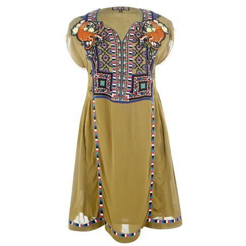 Biba - Biba Embroidered Neon Dress