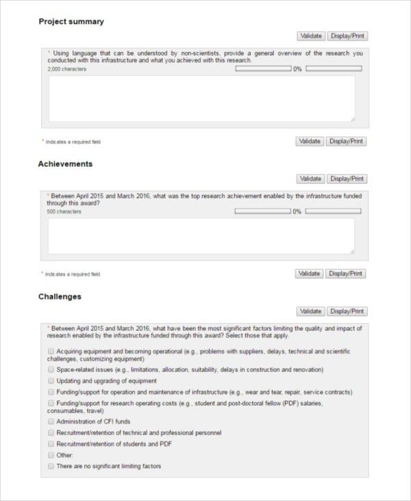 Project Summary Template 7 Project Summary Templates Free Word - contract summary template