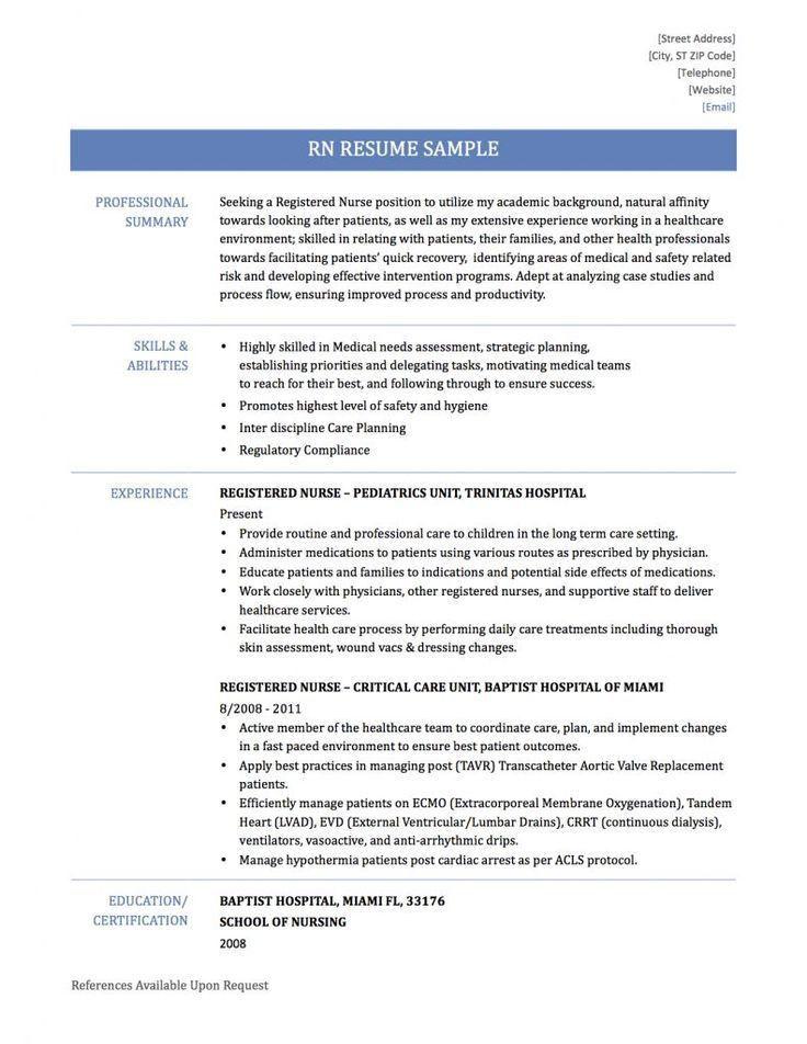 Resume Templates Nurse Nursing Resume Sample Writing Guide Resume - telemetry rn resume